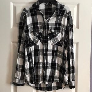 Express Black and White Flannel